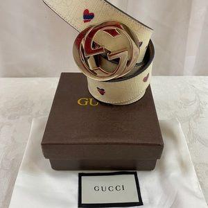"🆕 Gucci GG "" heart"" Belt ❤️ in box"